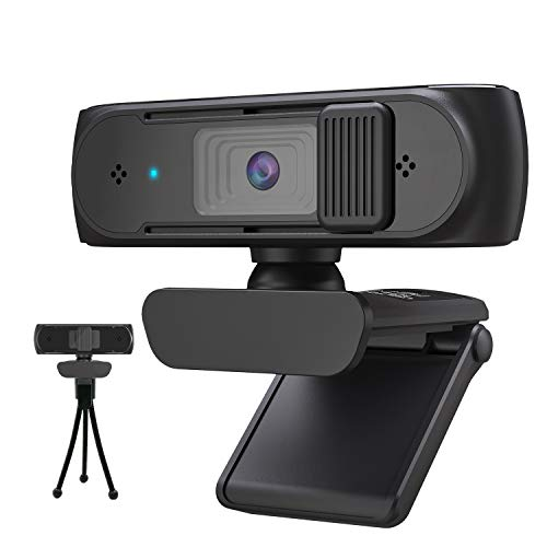 Webcam HD 1080p Webkamera, Autofokus-Webcam mit Mikrofon,Pro Streaming Webcam Für PC,MAC, Laptop,Desktop & Laptop Konferenz, Meeting, Zoom, Skype, Facetime, Windows, Linux und MacOS