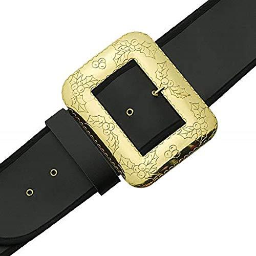 Halco - Santa Belt with Decorative Cast Buckle - X-Large - Black