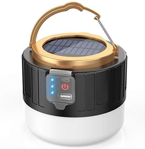ランタン LED ライト ソーラーランタン USB 充電式 アウトドアライト 2400mAh 照明 軽量 IPx6 防水ライト 携帯式 3つ調光モード 明るい 停電用 防災 キャンプ 連続点灯6-8時間