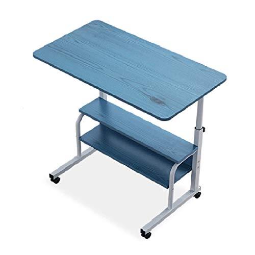 Table d'appoint Amovible Bureau lit Chambre Bureau Ordinateur Ascenseur étudiant Bureau (Color : Blue, Size : 80 * 40 * 90cm)