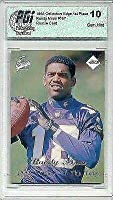 Randy Moss 1998 Edge 1st Place Rookie Card PGI 10 Hall of Fame - Football Slabbed Rookie Cards