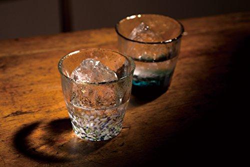 北洋硝子津軽びいどろ『氷華金彩ロックグラス』