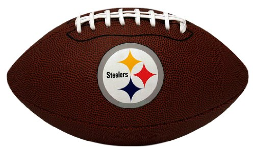 NFL Game Time Full Regulation-Size Football, Pittsburgh Steelers -  Jarden Sports Licensing, K2FBGAMEPIT