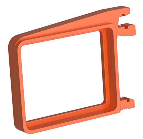 QubinoBox RGBW voor het opnemen van 1 Qubino Relais. Verticale montage op de DIN-rail. Bespaart waardevolle ruimte in de verdeler!) 5,5 x 4,2 x 0,7 oranje
