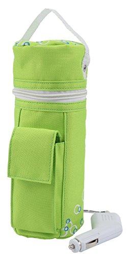 H+H BS 13 Babykostwärmer mit Warmhaltefunktion, Mobiler Babyflaschenwärmer, grün