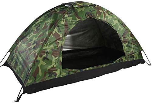 Campingzelt, Outdoor Tarnzelt Dome 1 Mann Person UV-Schutz Zelt Wasserdicht Camouflage Jurte für Outdoor Sports Wandern Klettern Camping
