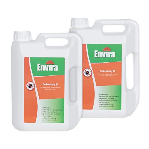 Preisvergleich Produktbild Envira Zecken-Spray - Anti-Zecken-Mittel Mit Langzeitwirkung - Geruchlos & Auf Wasserbasis - 2x 2 Liter