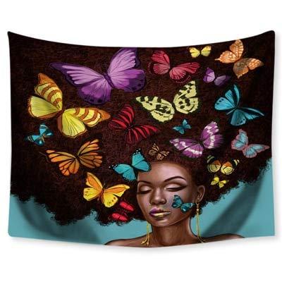KHKJ Sexy Chica exótica tapices de Pared Colgantes Mandala Alfombra de Pared Playa Hippie Tapiz psicodélico Mujeres Boho decoración A1 150x130cm