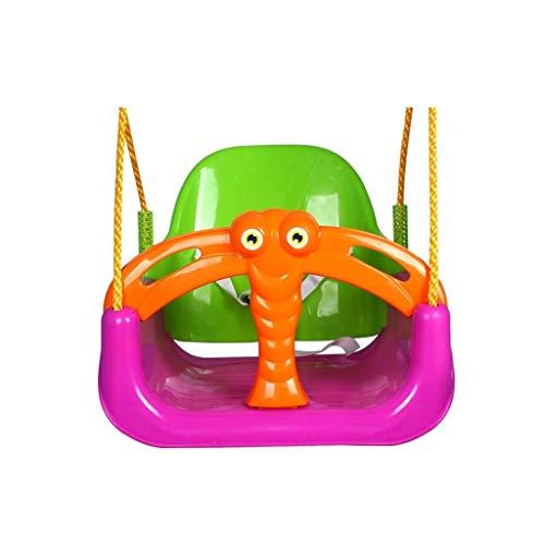 Hamaca de Viaje Forma de animal Columpio Asiento de bebé para niños Colgante de silla para colgar en el interior y al aire libre Juego familiar duradero Columpio de árbol Columpio Niños Adultos