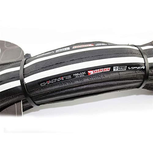 no brand Anti Crevaison vélo pneus 700 X 23C Pliant Pneus Route Pneus 60TPI Ultraléger 240g (Color : Black White)