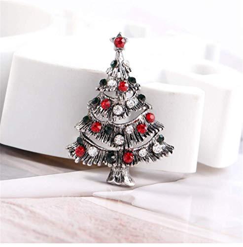 Dantanes Weihnachten immergrüne Brosche eignet Sich für Weihnachtskugelkostümzubehör WTZ012