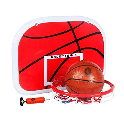 Tablero de baloncesto sin perforaciones, marco de canasta de dormitorio para colgar en la pared, soporte de baloncesto para niños en casa, juegos para padres e hijos para niños,...