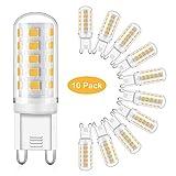 Eco.Luma G9 LED Lampe, 5W Ersatz 40W 50W Halogenlampen, Warmweiss 2700K 460LM LED Leuchtmittel Birnen, Kein Flackern, Nicht Dimmbar, AC 220-240V 10er Pack