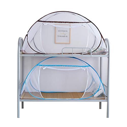 XGYUII Studentenwohnheim Moskitonetz Betthimmel mongolischen Zelt Faltbare kostenlose Installation gegen Mücken und Fliegen beißt,Blau,100 * 200 * 100cm