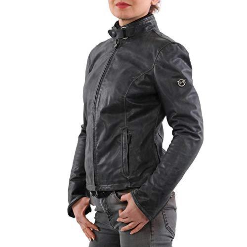Matchless Damen Leder Jacke Osborne Blouson Dark Grey 123116 Größe (42) S