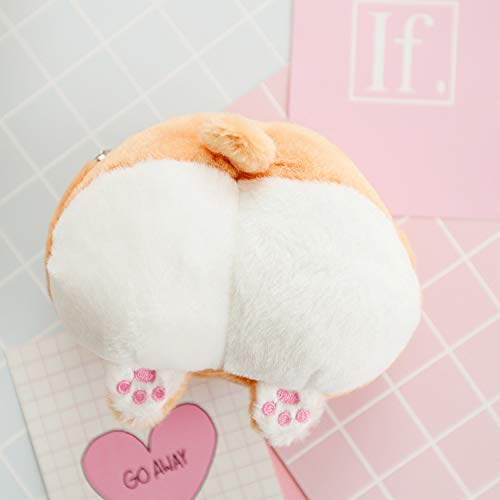 LGMIN Simple Cute Corgi Buttocks Portable Little Coin Purse (Without the Chain) Fashion appearance