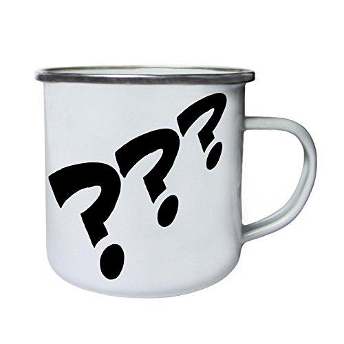 Preguntas Cómic Vintage Funny Novedad Retro, lata, taza del esmalte 10oz/280ml d705e