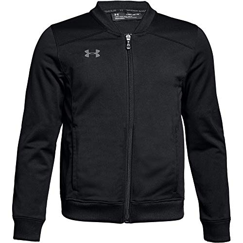 Under Armour Boys' Challenger II Track Jacket , Black (001)/Graphite , Youth X-Large