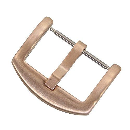 20 mm Rose Bracelets de Montre Fermoir Bracelet de Montre en Acier Inoxydable Or Montre Boucle de Remplacement Fermoir Boucle de Ceinture