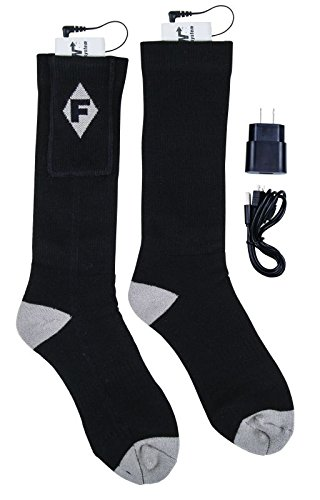 Flambeau F250 Men's Heated Socks Kit, X-Large, Gray