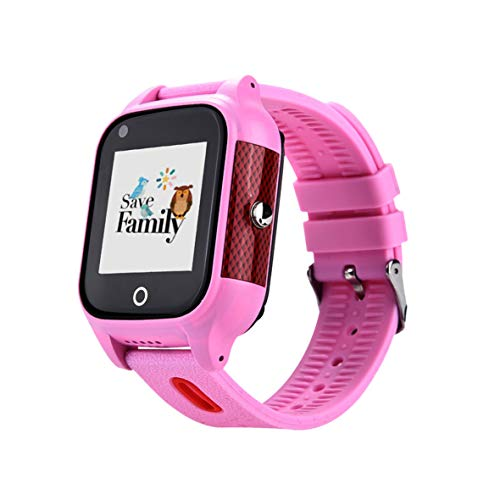 Reloj-Smartwacth 4G Urban con Videollamada & GPS instantáneo para Infantil y Juvenil SaveFamily. WiFi, Bluetooth, identificador de Llamadas, Boton SOS, Resistente al Agua Ip67. App SaveFamily. Rosa