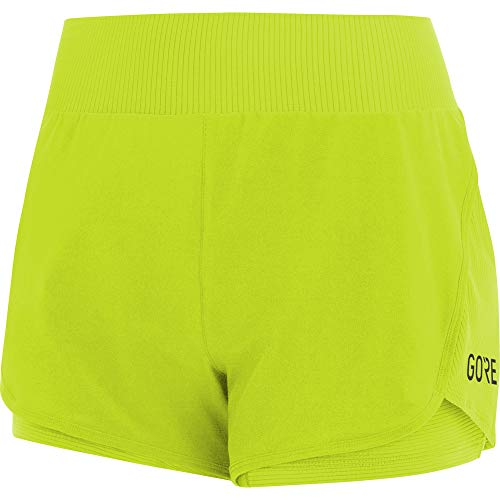 GORE WEAR Gore R7 Femme Short 2in1, Citrus Green, FR : XS (Taille Fabricant : 34)