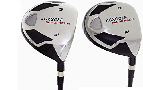 AGXGOLF Men's Magnum 3 & 5 Fairway Woods Set: Graphite Shafts + Head Covers Right Hand, Men's...