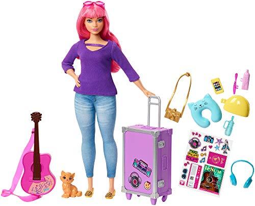 Oferta de Barbie Muñeca Daisy vamos de viaje con accesorios (Mattel FVV26)