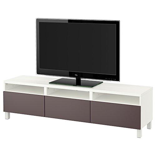 Zigzag Trading Ltd IKEA BESTA - Mueble TV con cajones Blanco/marrón Oscuro...