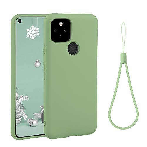 best thin cases for google pixel 4a 5g 2021 abitku Compatible with Google Pixel 4A 5G Case,Slim Silicone Gel Rubber Case Cover (with Microfiber Lining) Full Body Shockproof Design for Google Pixel 4A 5G 6.2 INCH (Matcha Green)