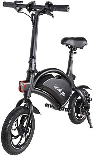 Windgoo Vélo Électrique Pliant, Jusqu'à 25km/h, Vitesse Réglable 12 Pouces Noir Bike, 350W/36V...