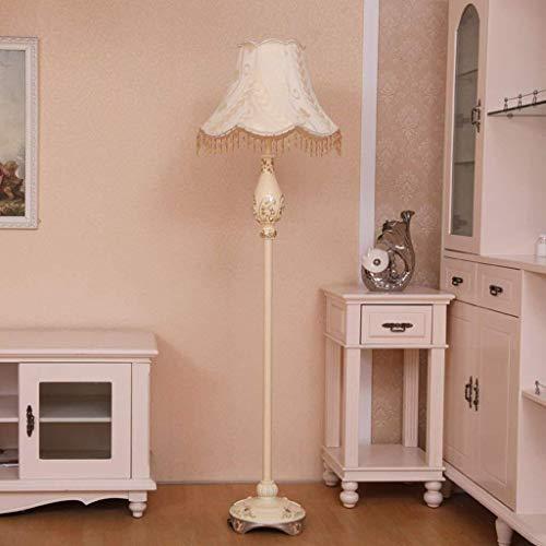 Busirsiz Led Lámpara de piso, sala de estar retro vertical de la lámpara europea de suelo, estudio de la manera creativa dormitorio de noche Lámpara de pie, Eye-Cuidado Vertical luz del piso