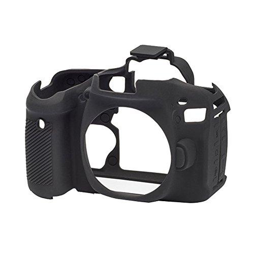 EasyCover - Custodia in silicone, per fotocamera Canon EOS 80d, colore: nero