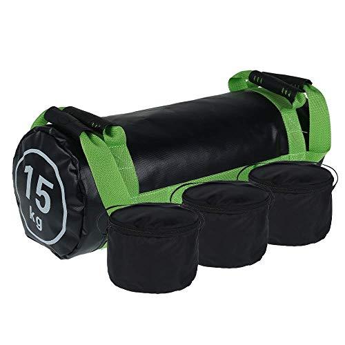 Beenle-Icey Sacco di Sabbia Fitness con Manici, Sandbag 15-30KG per Squat e Sollevamento,Forza e Coordinazione Powerbag (15KG)