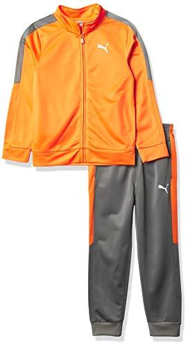 PUMA Boys' Track Jacket & Jogger, Orange, 5