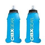 CBX GEAR Botella de Agua Deportiva 2X 500ml Azul Soft Flask para Correr, Running, Senderismo, Escalada | Blanda, Ligera y Fácil de Llenar y Agarrar
