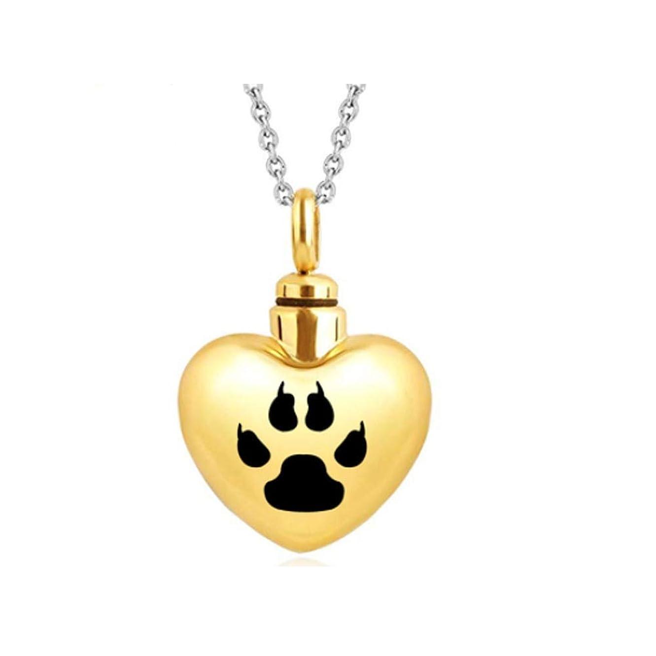 治療十億覚醒XIAN お土産の棺桶、チタン鋼のネックレスペンダント、ペットの壷、親戚、ペットの火葬場のお土産が大好きです。 Find Peace With This Lovely Dog Or Cat Pet Cremation Urn (Color : Gold)