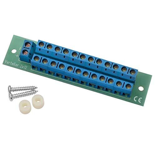 Stromverteiler Verteiler V 2x12 mit incl. Montagematerial bis 8A belastbar