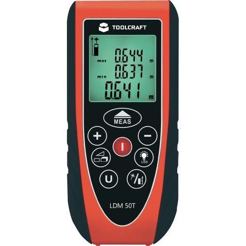 TOOLCRAFT LDM 50 T Laser-Entfernungsmesser Messbereich(e) 0,05 - 50 m Messgenauigkeit ± 1.5 mm 405646