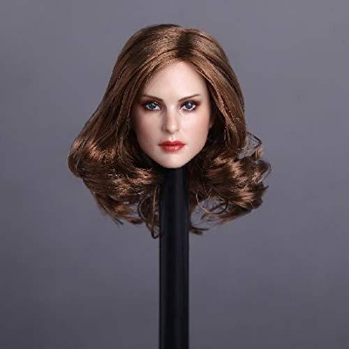 Batop Weibliche Kopf Sculpt für 1/6 Weiblich Action Figuren - Gelbes lockiges Haar