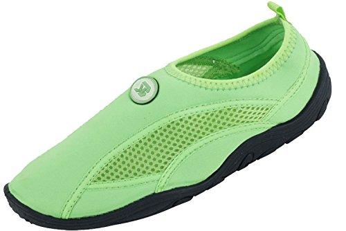 Women's Wave Water Shoes Pool Beach Aqua Socks, Yoga , Exercise,9 B(M) US,Green-2909