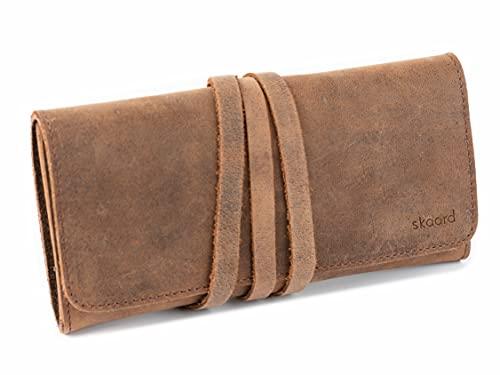 skaard Federmäppchen XL | Echtes Büffel-Leder | Für Stifte & Pinsel | Braun