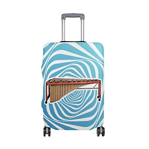 Marimba Music Travel Lage Cover - Kofferschutz Spandex Staubschutzhüllen mit Reißverschluss, passend für M22-24in-
