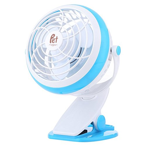 Pet Magasin Fan for Dog Crate - Dual Power Source,...