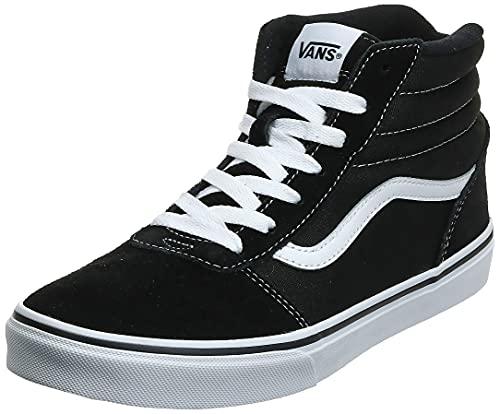 Vans Ward Hi Classic Suede/canvas Zapatillas altas Unisex Niños, Negro ((Suede/Canvas) Black/White Iju), 38 EU