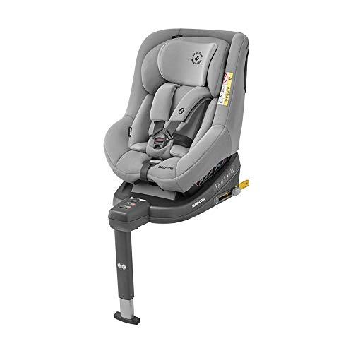 Maxi-Cosi Beryl Kindersitz, mitwachsender Autositz mit ISOFIX oder Gurt Installation geeignet für jedes Auto, Gruppe 0+/1/2, nutzbar ab der Geburt bis ca. 7 Jahre (0-25 kg), Authentic Grey, Grau