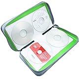 Watruer CD Case, 80 Capacity DVD Storage DVD Case Holder VCD Wallet Organizer Protective Hard Plastic Portable Case Cover - Green