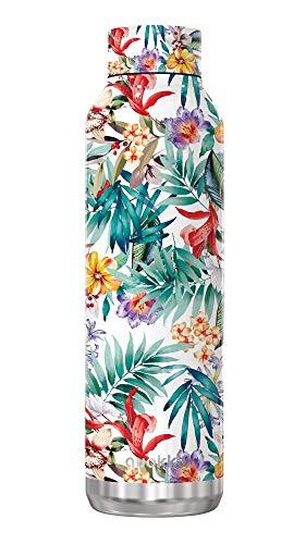 Quokka Solid - Orchid Garden 630 ML | Botellas De Agua Acero Inoxidable Sin BPA |Botella Térmica De Doble Pared - Mantiene el frío y el Calor para Niños y Adultos