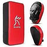 Odoland Kit de Boxeo 2-en-1 para Niños y Adultos, Incluir Patas de Oso y Paos de Boxeo, Kit de Pugilismo para Niños, Kickboxing, Karate, Muay Thai, Entrenamiento de MMA