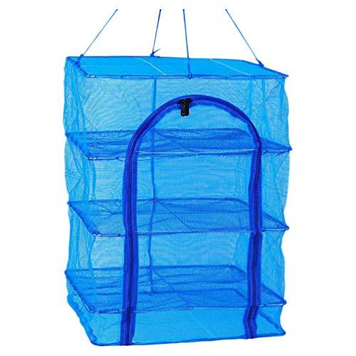 VORCOOL 1Pc Rete di Essiccazione Pieghevole Multi-Strato Rete di Essiccazione Alimentare Anti-Fly Rete di Essiccazione Alimentare per Gamberi Pesce Frutta Verdura (Quattro Strati 66X35x35